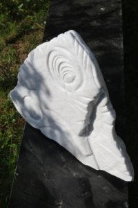 Marbre de Carrare, sculpté Octobre 2018