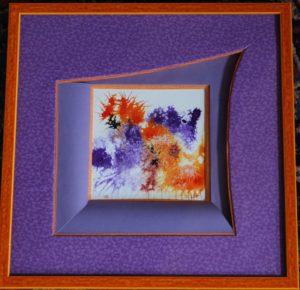 Feux-fleurs violet-orange, 2019. Encre