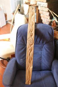 Douelle (douve) de tonneau en chêne. Barrel stave in oak
